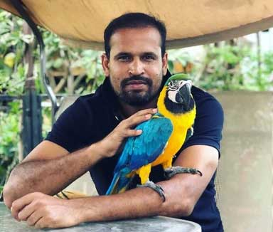 10 Indian Celebrities & Their Pets - Yusuf Pathan