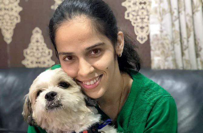10 Indian Celebrities & Their Pets - Saina Nehwal